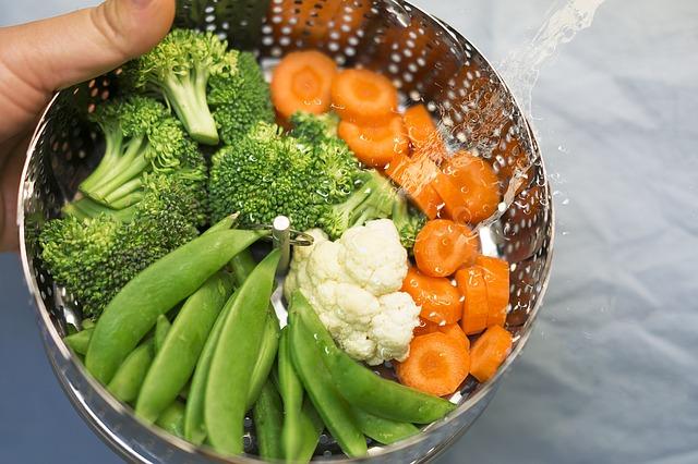 zelenina upravená v páře