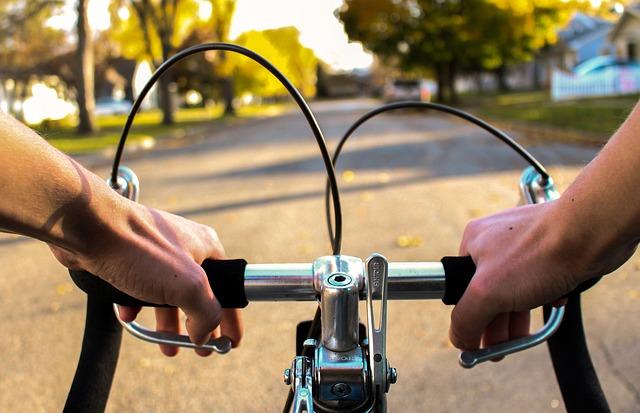 cyklista na projížďce