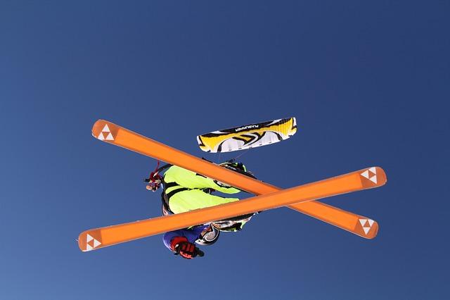létající lyžař