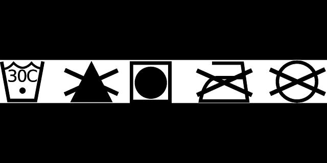 symboly na prádle