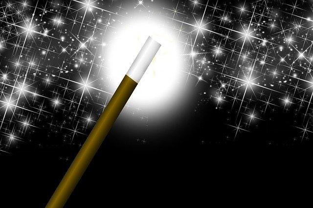 Kouzelnická hůlka, kolem poletují hvězdičky