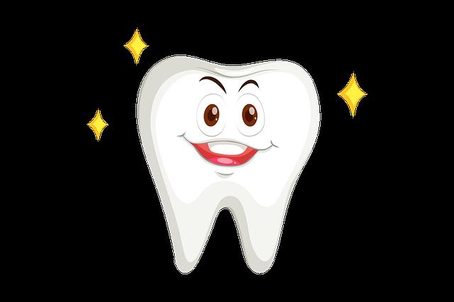 kreslený zub